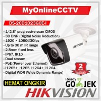 DS-2CD1023G0E-I Hikvision IP Camera CCTV Outdoor 2MP H265 POE WDR