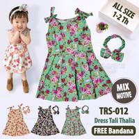 2in1 Rok dress Bayi anak Perempuan + Bando Anak Bayi Perempuan TRS-012