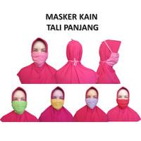 Masker Kain Wajah Mulut 1 Ply Bisa Dicuci Model Tali Panjang Anti Debu