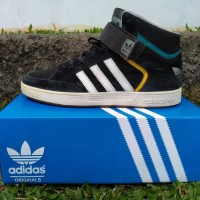 Adidas Varial Mid shoes black yellow turquoise