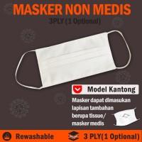 Masker Kain Putih Anti Debu Untuk Kesehatan Bisa Dicuci