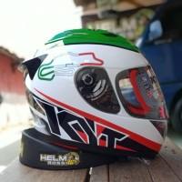 KYT RC7 - Italy white seri 15 helm RC 7