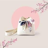 valencia white twilly bag