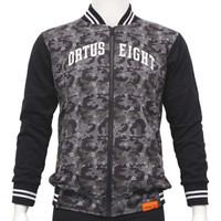 Jaket Pria Ortuseight Varsity Camo Jacket - Camo Grey/Black