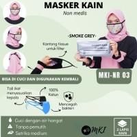 MASKER KAIN INDONESIA, MASKER KATUN RAYON 100%, MASKER N95, MASKER 3M - 1 PACK RANDOM