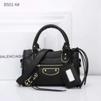 TAS WANITA HAND BAG BALENCIAGA CITY METALIC EDGE B501-6 Wl