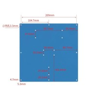 MK2A MK2B Aluminium Heatbed Heated Heat Bed Support 220 x 220mm