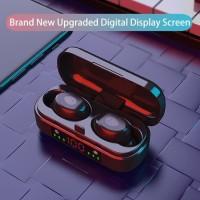 HiFi Stereo Sound V8 Mini TWS Wireless Headset Bluetooth LED Display