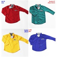 Sale Kemeja Anak Formal Khusus Size S (1-2 Tahun) Katun Oxford Premium