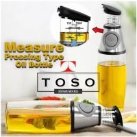 Bottle Press Measure Oil Botol Minyak Goreng Gula Cair Cuka 500ml