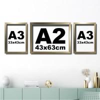 Set Poster Kaligrafi Hiasan Dinding A2 dan A3 Gold