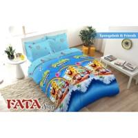 Full Set Bedcover + Sperai Fata Non Rumbai King 180 - Spongebob Friend