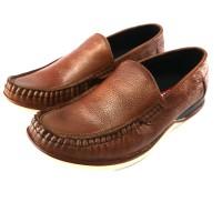 sepatu casual Pria slip on Asli kulit