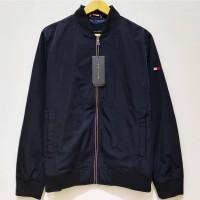 Jaket Bomber Tommy Hilfiger Nylon Lightweight Jacket Original Navy