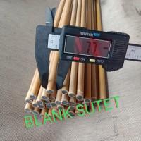 BLANK SUTET JORAN PANCING UKURAN 7.7mm SATUAN PANJANG MIX 120 - 140CM