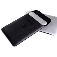 Tas Laptop/Softcase Macbook 13 PU Leather Sleeve Case - Hitam