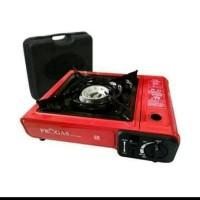 PROGAS kompor camping portable 2 in 1 ( tabung gas dan kaleng)