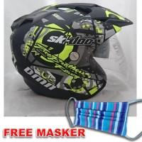 Helmet Double Visor Helem SKI Kuning setara KYT INK GM WTO NHK - Merah