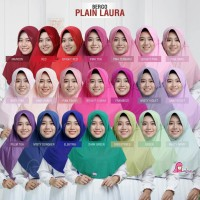 Hijab remaja jilbab murah serut polos bergo plain laura miulan size L