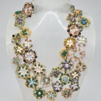 Kalung Beaded Statement Necklace