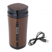 USB Rechargeable Heated Warmer Coffee Mug Cup with Automatic Stirring