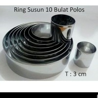 Ring Cuter Motif Bulat SET isi 10 ukuran/ Cetakan kue ring cutter cake