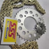 gear gir sss set rantai 428 vixion xabre r15 mx king