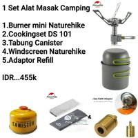 Satu Set Alat Masak Ultralight Kompor Camping Outdoor