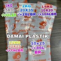 Plastik PE Kantong ES Batu Kuah Bakso Gula Minyak 10x20 10x25 12x25