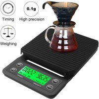 Coffee Scale Timbangan Kopi Digital Timer 3Kg Pour Over V60 Filter TSC