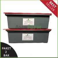 Paket Hidroponik Ekonomis Sistem Wick (2 Bak) 18 lubang