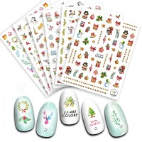 nail stickers christmas series,nail water transfer,diy nail art.