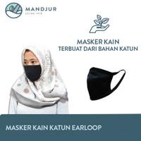 Masker Bahan Kain Katun Tebal Earloop