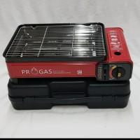 Kompor Gas Progas portable panggang sate/ sosis 2 in 1