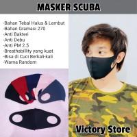 Masker Korea Bahan Scuba - Harga Grosir