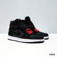 Nike Air Jordan 1 Black Satin GYM Red BNIB PERFECT PAIRS