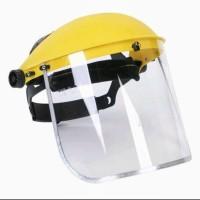 Face shield/ pelindung wajah. Helm safety.