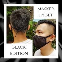 Masker Kain Hyget (3 Lapis) Warna Hitam