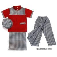 Baju Koko Anak- Sarkoci anak/Sarung Koko Peci anak 1-5 Thn motif kecil