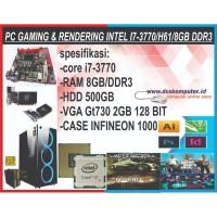 KOMPUTER GAMING INTEL I7 3770 + VGA GT 730 2GB + RAM 8GB FREE USB WIFI