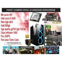 KOMPUTER GAMING INTEL I5 2400 + VGA GT 730 2GB + RAM 8GB FREE USB WIFI