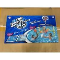 Mainan Anak Edukasi Gawang Bola dan Ring Basket 2in1