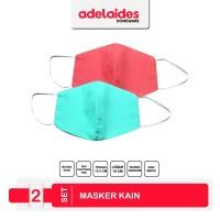 Adelaides Masker Kain 2 Lapis Penyaring Debu Set isi 2 buah Warna Rand
