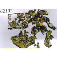 Lego Block Panlos Brick 99 Main Battle Tank Deformation 621021 SNI