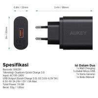 Aukey Charger 1 Port Quick Charge 3.0 Fast Charging PA-T9 c3