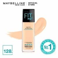 TERLENGKAP// Maybelline Fit Me matte poreless foundation 128 warm nude