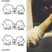 COD Stiker Tato Sementara Motif Gajah Anti Air Mudah Dilepas Pesawat