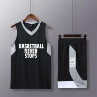 Termurah Basketball suit mens custom passer by Wang jersey male