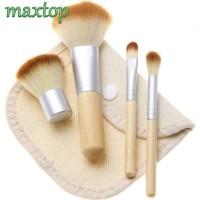 4pcs/set K070 JBS New York Bamboo Brush Kuas Powder Makeup Tools