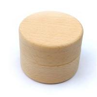 Kotak Cincin Kawin / Tunangan Bentuk Bulat Bahan Kayu